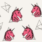Geometric Unicorn - Champagne/French Rose