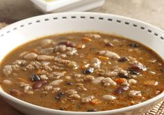 Serve this zesty bean and barley soup garnished with chopped fresh cilantro and a squeeze of lime, if desired.