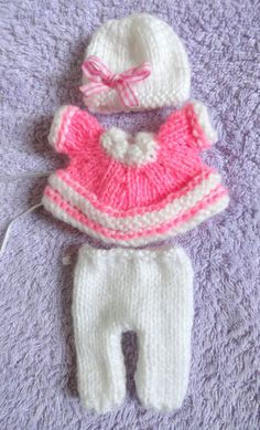 """Hand Knitted Dolls Clothes for 3,5-4""""  OOAK  Doll (# 206)"""