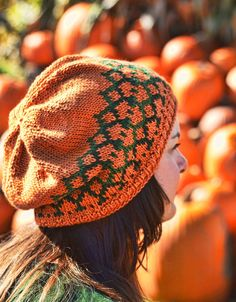 81a8f8e3ea82d Tangled Pumpkin Vines Hat Knitting pattern by Cynthia Spencer