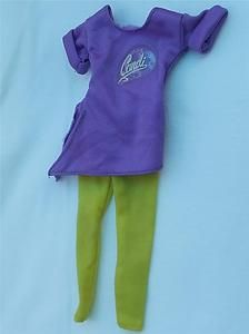 Vintage Mego Candi Fashion Doll Purple Shirt Yellow Pants Outfit Barbie Dolls