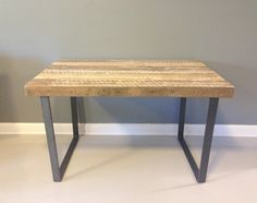 wood and metal desk - Google Search
