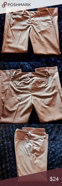 Gap trousers 6R Curvy fit, flared leg, stretch trousers by GAP.  Size 6R with a double clasp and inner button enclosure.  Permanent center pleat.  Very comfortable and in excellent condition. A dark khaki , taupe color. GAP Pants Trousers