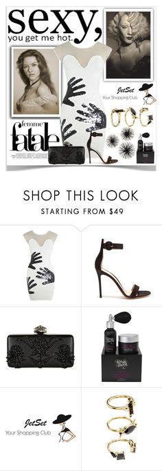 """""""Sexy"""" by sukia ❤ liked on Polyvore featuring Gianvito Rossi, Alexander McQueen, Kiss the Moon and Noir Jewelry"""