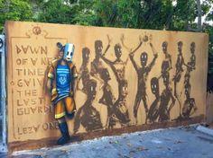 Street Art by Leza One, located in Wynwood - Miami, Florida