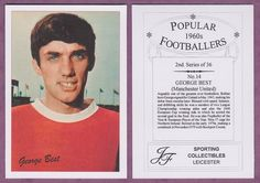 RARE football card, depicting the legendary Manchester United and Northern Ireland star George Best. This card is available at www.premierfootballcards.com