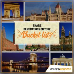 Everyone got their Bucket List. We would love to hear about the Extraordinary Places in your Bucket which could be the whole World, Moon, Stars, Planets or a Country 😎 Inspire Us with the Thrilling Lists in Comments Section😍 Morocco Tourism, Morocco Travel, Holiday Destinations, Travel Destinations, Visit Morocco, Tourist Places, Cheap Travel, Winter Holidays, Where To Go