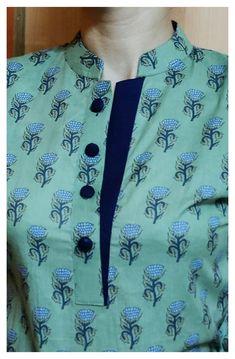 Printed Kurti Designs, Simple Kurti Designs, New Kurti Designs, Kurta Designs Women, Kurti Designs Party Wear, Salwar Neck Designs, Neck Designs For Suits, Sleeves Designs For Dresses, Blouse Neck Designs