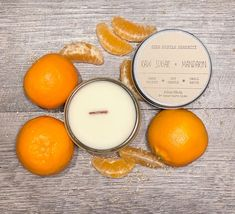 🍊Orange you glad it's not banana 🍌 Raw Sugar + Mandarin Scented Soy Candle | 3.5oz Candle Jar | Woodwick | Housewarming | Good Fortune Candle | Good Zen | www.sidehustleserenity.etsy.com Wood Wick Candles, Mini Candles, Home Candles, Scented Candles, Glass Jars, Candle Jars, Tin Containers, New Home Gifts, Amber Glass