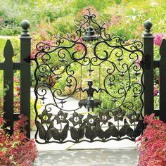 Garden Doors, Garden Gates, Garden Entrance, Porches, Iron Work, Iron Gates, Iron Fences, Dream Garden, Lush Garden