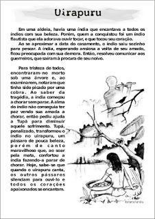 Atividades para imprimir do 3º ao 5º anos sempre a mão: Coletânea de lendas - Folclore