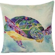 I Heart Turtle Pillow Cover