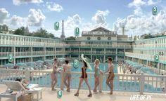 Molitor swimming pool in Paris (Piscine Molitor, Life of Pi)
