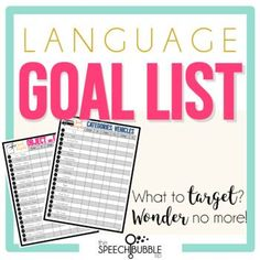 Knowing what to write for a goal can be tough, but figuring what specific targets to focus on can be just as frustrating. You spent enough time writing the goal itself, your time is too valuable to spend 30 minutes trying to think a list of verbs to target! These pre-made goal target lists will hel...