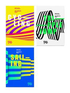 M c saatchi la la 2024 olympic bid city Sports Graphic Design, Japanese Graphic Design, Graphic Design Posters, Graphic Design Inspiration, Sport Inspiration, Poster Designs, Graphisches Design, Design System, Cover Design