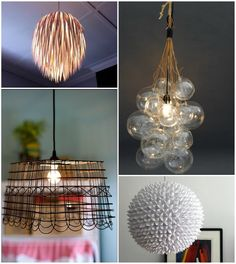From the New Home Ec--DIY light fixtures.