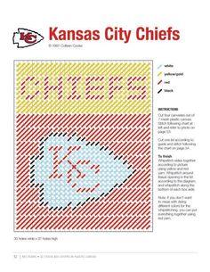Kansas city chiefs tbc made pattern Plastic Canvas Coasters, Plastic Canvas Ornaments, Plastic Canvas Tissue Boxes, Plastic Canvas Crafts, Plastic Canvas Patterns, Melty Bead Patterns, Box Patterns, Peyote Patterns, Crochet Patterns