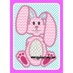 Baby Easter Bunny Applique Design / Applique Junkie