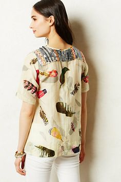 Beaded feather top from Anthropologie