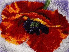 Poppy Latch Hook Rug Kit