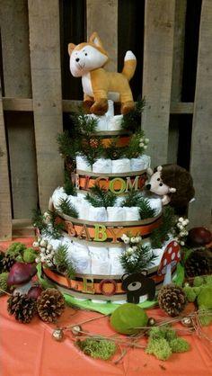 woodlands diaper cake