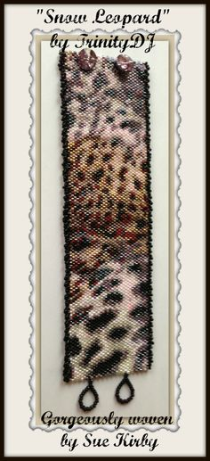 """ Snow Leopard Print"" - Odd Count Peyote Stitch Bracelet Pattern. Please follow this link for more info and direct download: https://www.etsy.com/listing/156276114/bp-an-023-snow-leopard-print-odd-count?ref=shop_home_active_7"