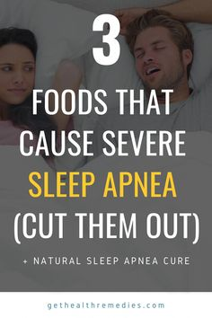 3 Foods that Cause Severe Sleep Apnea (cut them out). Cut down just three food items and you can improve sleep apnea condition. Severe Sleep Apnea, What Causes Sleep Apnea, Causes Of Sleep Apnea, Sleep Apnea Remedies, Snoring Remedies, Sleep Apnea Devices, Circadian Rhythm Sleep Disorder, How To Stop Snoring, Natural Sleep Aids