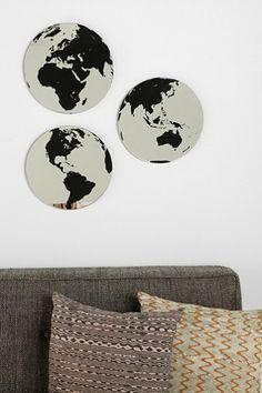 Globe Mirror - Set Of 3