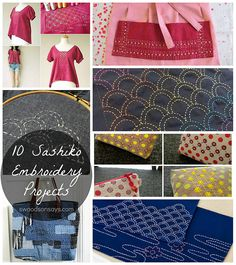 A roundup of sashiko tutorials, inspiration pictures, and ideas.