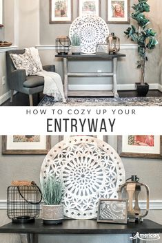 Feb 2020 - Entryways are a wonderful space for guests to set down their belongings and feel more at home. It's also great to showcase your particular design style. Let Jessica Conner help you with her cozy entryway design! My Living Room, Home And Living, Living Room Decor, Entryway Decor, Diy Room Decor, Bedroom Decor, Home Decor, Home Projects, Home Crafts