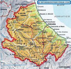 Map of Abruzzi   #TuscanyAgriturismoGiratola