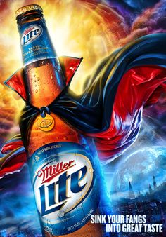 The Print Ad titled Miller Lite: Halloween was done by Arc Chicago advertising agency for product: Miller Lite Beer (brand: Miller) in United States. Miller Lite, Ads Creative, Creative Advertising, Advertising Design, Creative Posters, Advertising Poster, Advertising Campaign, Creative Design, Beer Advertisement