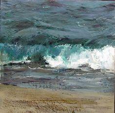 Wave in Costa Brava || oil on canvas #figurativepaintings #figurativepaintingsinBarcelona