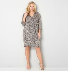 Discover flattering new plus size dresses like the Brushstroke Wrap Dress available online at avenue.com. Avenue Store