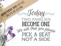 Pick a seat not a Side svg eps dxf jpg png cut file for Silhouette and Cricut type craft machines by HoneybeeSVG on Etsy