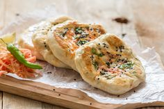 Stuffed Vegetable Kulcha is a soft and fluffy Indian leavened bread which is made stuffed with seasonal vegetables.Serve with Channa and Raita or even plain with melted butter- Recipe by Richa -->http://ift.tt/1VcOSuW #Vegetarian #Recipes