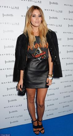 Stunning: Harry Style's pal Kara Rose Marshall looked trendy in a T-shirt and high-waisted...