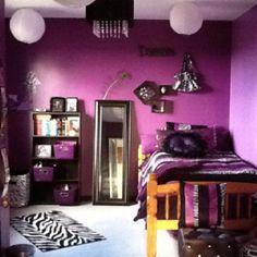 Tween bedroom (zebra print and purple) rachels purple?