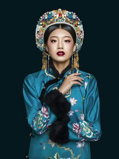 Oriental Fashion, Oriental Style, Asian Hair Accessories, Folk Costume, Costumes, Hanfu, Cheongsam, Qing Dynasty, Chinese Culture