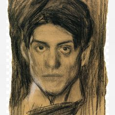 Pablo Picasso 'Selfportrait' 1900 #blackchalk #drawing #selfportrait #youngartist #spanish #1900 in the #exhibition #picassoportraits @nationalportraitgallery