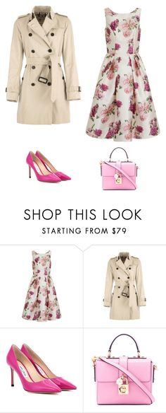 """""""Lady pink"""" by maria-k-83 on Polyvore featuring мода, Chi Chi, Burberry, Jimmy Choo и Dolce&Gabbana"""