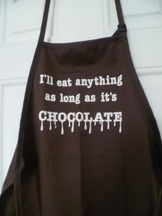 Choccycocochic Online Shop - GroovyCart - Chocolate Gifts & Supplies Buy Adult Chocolate Caption Apron