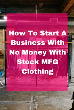 how to start a clothing business with no money