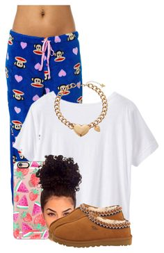 """""""Untitled #2737"""" by alisha-caprise ❤ liked on Polyvore featuring Paul Frank, Athleta, Casetify, UGG Australia and GUESS"""
