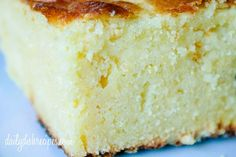 Moist Sweet Cornbread Recipe - If you didn't like cornbread before, you will now. Moist and delicious and sweet, almost like cake.