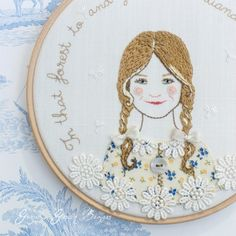 Gracie's Garden Bazaar: Finished 'Summer Wanderings' storybook embroideries