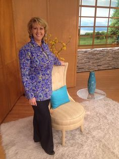 One of my great QVC hosts! Mary Beth! Always a fun time Chair Dancing with her. Chair Yoga is still selling great!