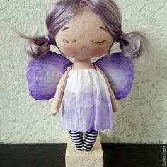 DIY Muñeca de tela mariposa lavanda
