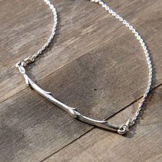 Silver Willow Branch Necklace / Woodland Forest Tree Branch Jewelry on Etsy, $37.53 CAD
