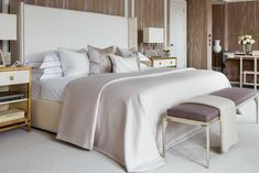 Luxury residential interior architectural design development by Katharine Pooley. Warm Bedroom, Home Decor Bedroom, Master Bedroom, Bedroom Ideas, Master Suite, Deco Design Pas Cher, Woman Bedroom, Top Interior Designers, Beautiful Bedrooms